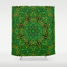 Orange Yellow and Green Kaldeidoscope 4 Shower Curtain