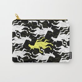 Psychedelic Yellow Unicorn Carry-All Pouch