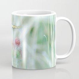 """Swallowtail & Thistles"" by Murray Bolesta Coffee Mug"