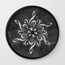 Sol key mandala on chalk Wall Clock