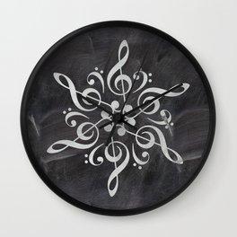 Sol key mandala on chalk Wall Clock