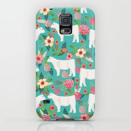 Charolais cattle farm must have gifts homesteader cow breeds florals iPhone Case