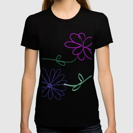 Posies in Pink and Blue - Flowers - Nature T-shirt