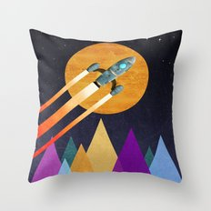 Rocket  2nd Star to the right  LLAP Throw Pillow
