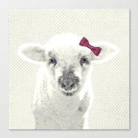 lamb Canvas Prints featuring LAMB by SUNLIGHT STUDIOS  Monika Strigel