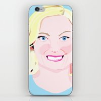 leslie knope iPhone & iPod Skins featuring Leslie Knope by cuterthanababyandamonkeycombined