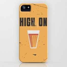 Funny High On Chai Tea Hindi Quote iPhone Case