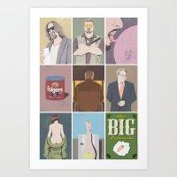 big lebowski Art Prints featuring The Big Lebowski poster by illustrydom