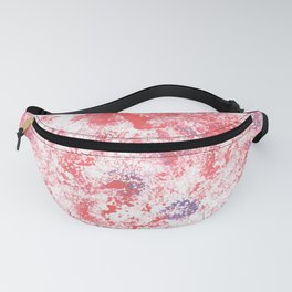 Red Splatter Painting Camo Print Fanny Pack