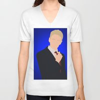how i met your mother V-neck T-shirts featuring Barney Stinson - How I Met Your Mother by Tom Storrer