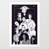 ahs Art Prints featuring AHS Hotel by Jaimie Hutton