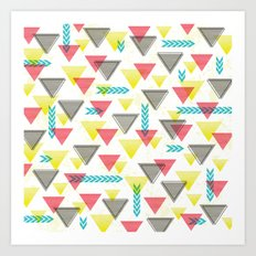 Wild Triangles Art Print