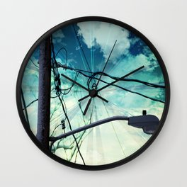 Curl in the Wire Wall Clock