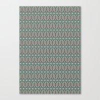 folk Canvas Prints featuring Folk by Ana Types Type