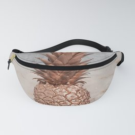 Pineapple in Glitter Marble Rose Gold And Concrete Fanny Pack