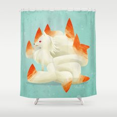 038 Ninetales Shower Curtain