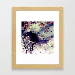 Tree and Fall Framed Art Print