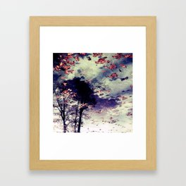 Tree and Fall Framed Art Print