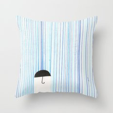 Mr. Invisible Doesn't Like Rain... Throw Pillow