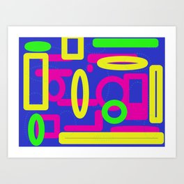 Multi Coloured Abstract Art Print
