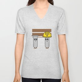 """Nail Engineers"" tee design. Makes an adorable and cutie gift to your engineer friends and family!  Unisex V-Neck"