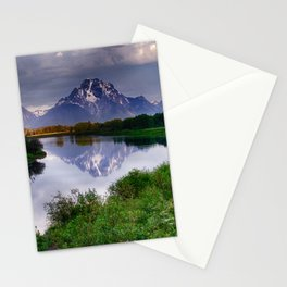 Mt. Moran at Oxbow Bend Stationery Cards