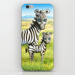 Zebra and Foal iPhone Skin