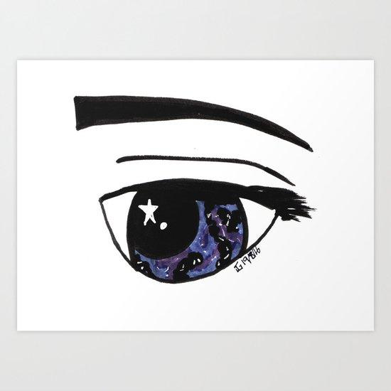 Galaxy Gaze Art Print