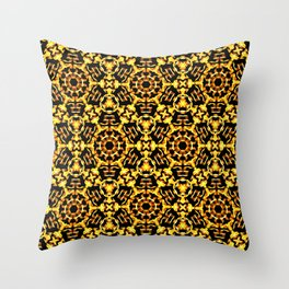 Sunny Gold Pattern Throw Pillow