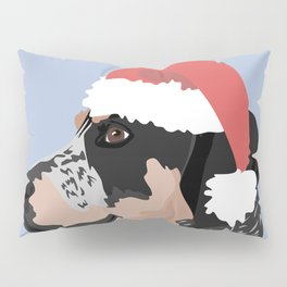 Coonhound Santa Hat Pillow Sham