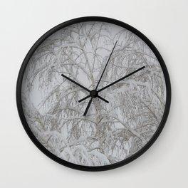 Snowy Tree 2 Wall Clock