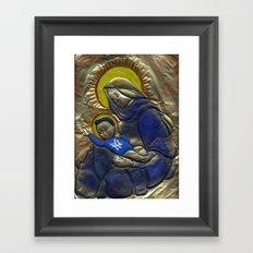 Jesus Was A Yankee's Fan Framed Art Print