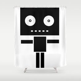 Robot Pop Shower Curtain