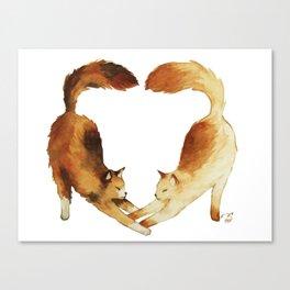 Feline Valentines Canvas Print