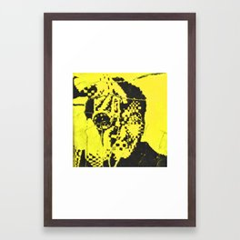 Pecker Portrait in yellow | John Waters Framed Art Print
