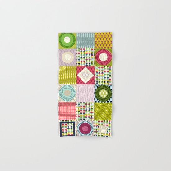 leaf squares Hand & Bath Towel