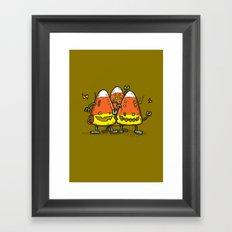 Candy Corn Bots Framed Art Print