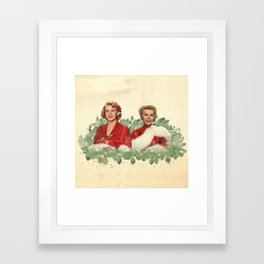 Sisters - A Merry White Christmas Framed Art Print