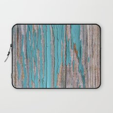Rustic turquoise weathered wood shabby style Laptop Sleeve