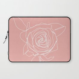 Rose Flower With Leaves One Line Art Laptop Sleeve
