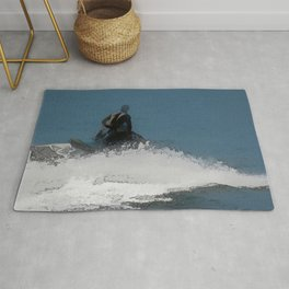 Ready to Make Waves - Jet Skier Rug