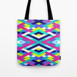 Smart Diagonals Pink Tote Bag