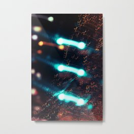 Music and Light Metal Print