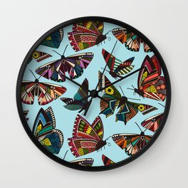 summer butterflies multi sky Wall Clock