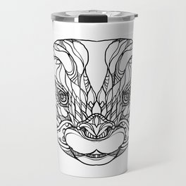 Oriental Small-clawed Otter Doodle Art Travel Mug