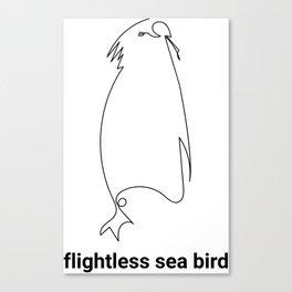 FLIGHTLESS SEA BIRD - ABSTRACT PENGUIN #cute #animals #minimal #art #design #kirovair #buyart #decor Canvas Print