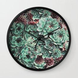Succulent Sempervivum Plants Wall Clock