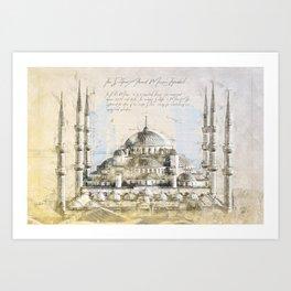Blue Mosque, Istanbul Turkey Art Print
