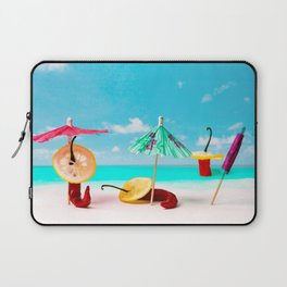 The Red, the Hot, the Chili on the beach Laptop Sleeve