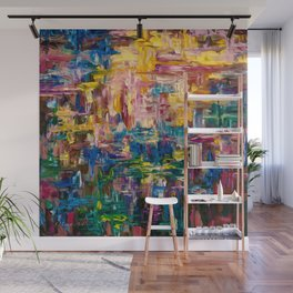 Abstract - Colorful World by Lena Owens Wall Mural